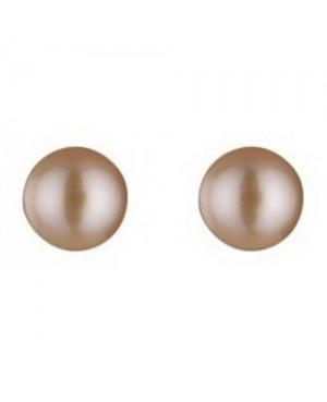 Silver & Pink Freshwater Pearl Stud Earrings 6-7mm