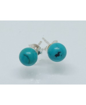 Silver Turquoise Ball Stud...