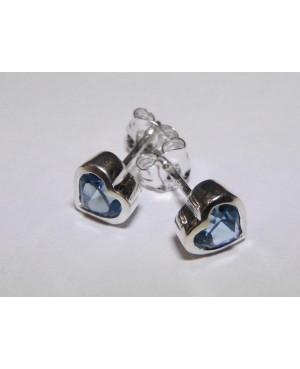 Silver & Blue Topaz Heart...