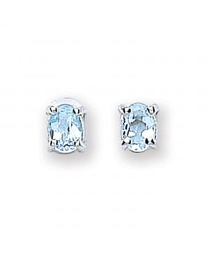 Silver & Topaz Stud Earrings